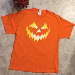 Halloween Pumpkin Short Sleeve Top